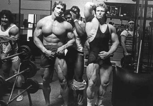 Ed Corney, Arnold, Ken Waller, Robby Robinson and Denny Gable