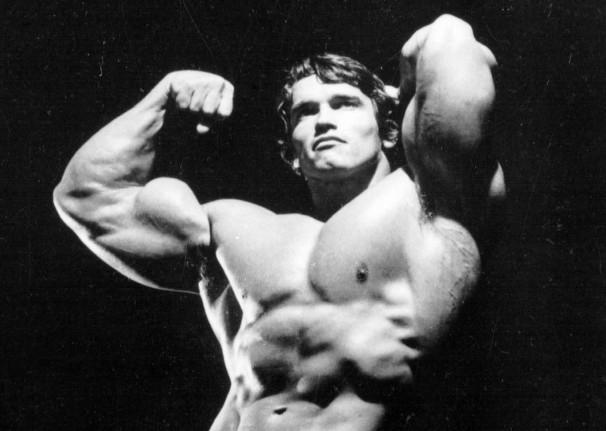 Arnold Bicep pose
