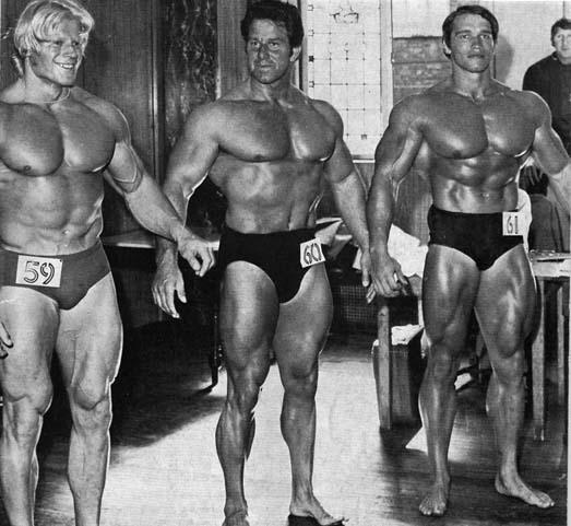 Dave Draper, Reg Park and Arnold Schwarzenegger